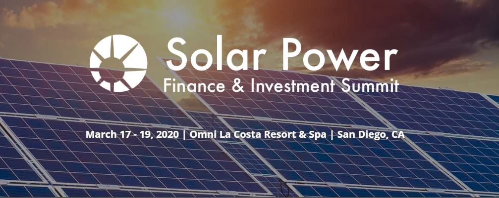 Solar Power Finance Invstment Summit