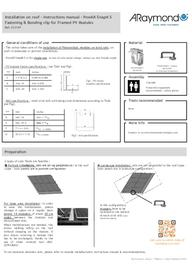 Instructions manual on-roof installation PowAR Snap S (EN)